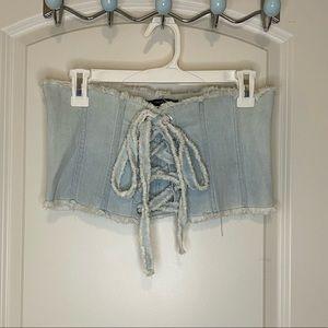 Jean corset crop